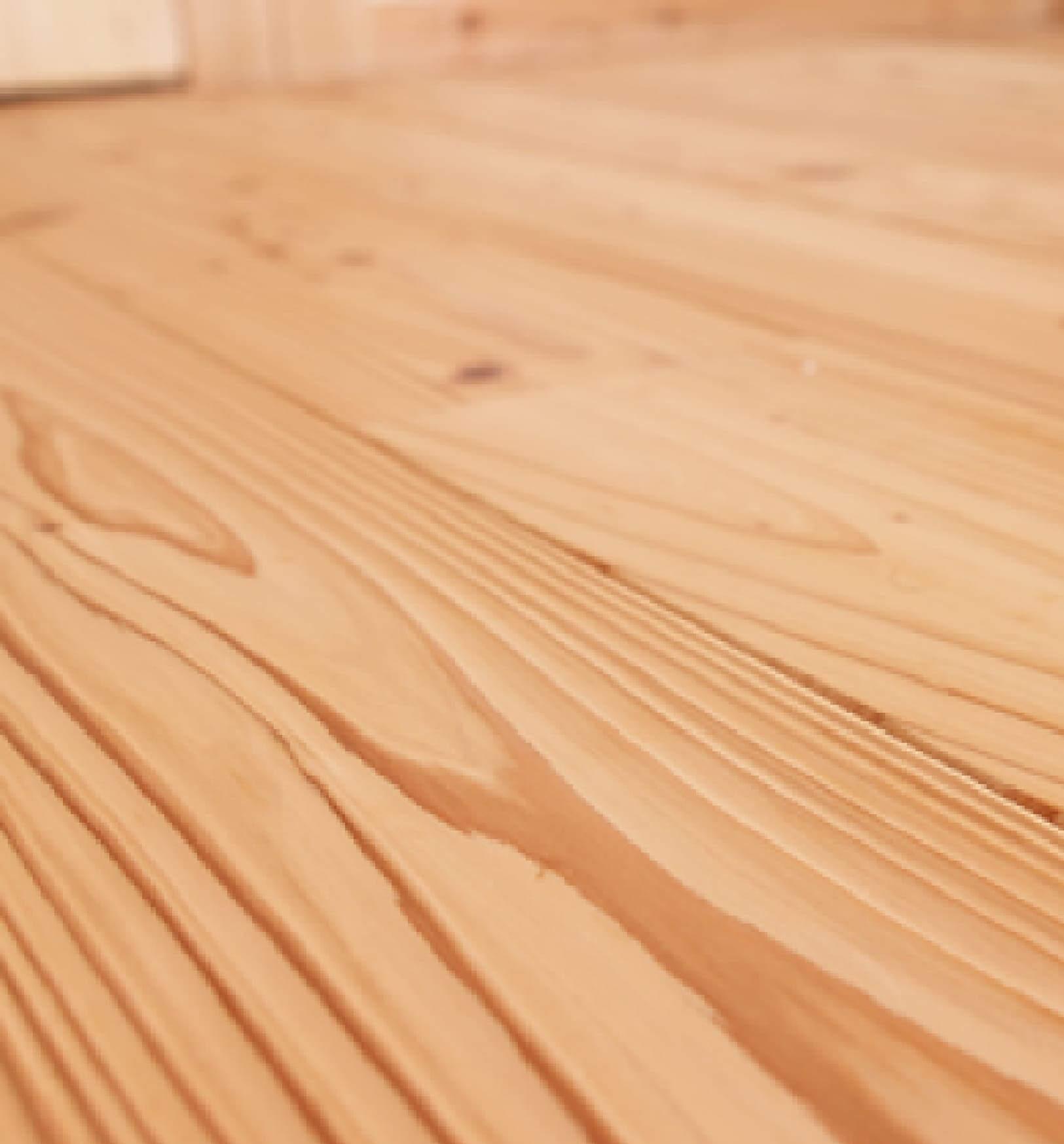 『 音響熟成木材でつくる うづくりの床 』