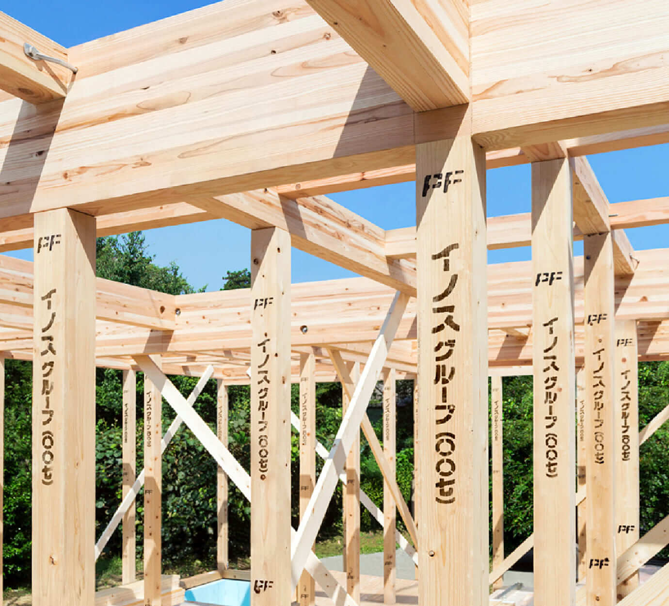 ■ 厳選された高性能構造材 住友林業のPFウッド