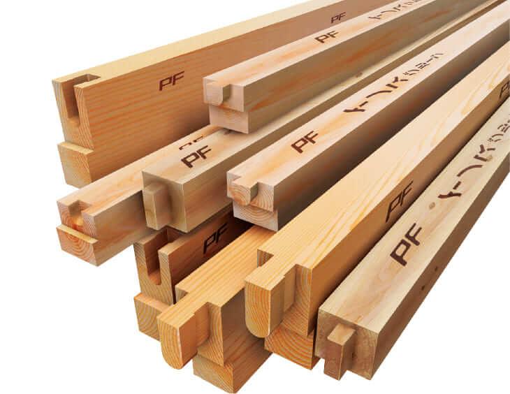 厳選された高性能構造材 住友林業のPFウッド